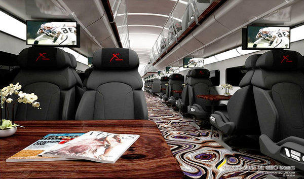 The X Train promises to carry passengers from Orange County to North Las Vegas in style. However, normal service now isn't expected to begin until next summer.