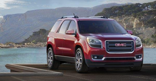 General Motors' GMC brand, including this 2014 Acadia SLT, scored second in the 2013 J.D. Power initial quality rankings.