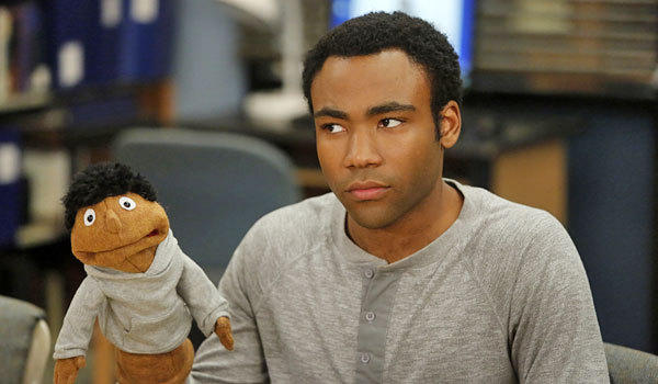 "Donald Glover in an episode from the fourth season of ""Community."""