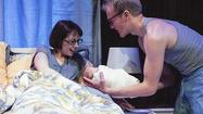 "THEATER REVIEW: 'Mine' at the Gift Theatre ★★★½ ... ""Mine,"" the very arresting and intensely personal new play by Laura Marks at the Gift Theatre, begins with a young woman having a baby at home."