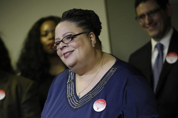 Chicago Teachers Union President Karen Lewis, seen here in April, talked to the City Club of Chicago about education reform Tuesday.