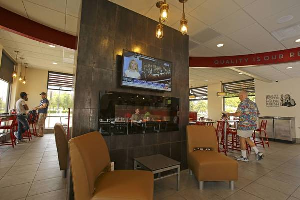 Wendy's on Millenia Blvd. is changing their atmosphere by adding flat screen televisions and a fireplace in the interior of their restaurant.