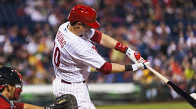 Phillies edge Nationals to move into second-place tie