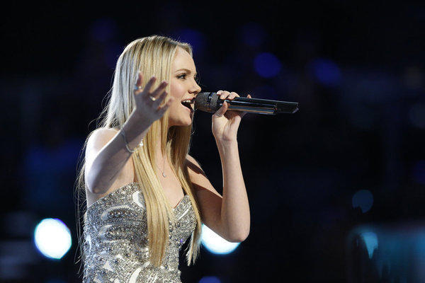 "Danielle Bradbery performs on ""The Voice."""