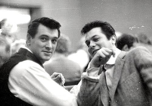 Rock Hudson and Tony Curtis