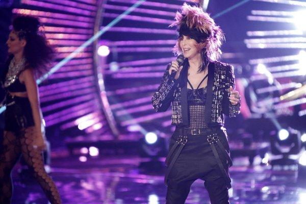 "Cher performs on the season finale of ""The Voice."""