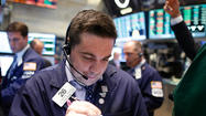 NEW YORK (Reuters) - Stocks fell 1 percent in a volatile session on Wednesday, with losses accelerating after Federal Reserve Chairman Ben Bernanke said a reduction in the rate of stimulus could occur this year if the economy continues to improve.
