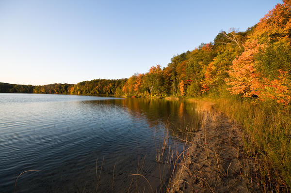 The 750-acre property on Thumb Lake includes a little less than a mile of lake frontage.