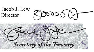Treasury secretary improves his penmanship for currency signature