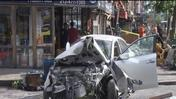 At least 8 injured after car jumps curb in East Village