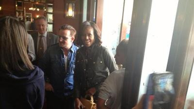 Bono Bonds With Michelle Obama & Kids For Lunch