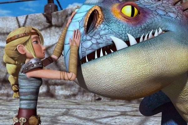 "A scene from the DreamWorks Animation TV series ""Dragons: Riders of Berk"" on Cartoon Network."