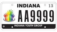 ACLU sues over Indiana gay youth plates
