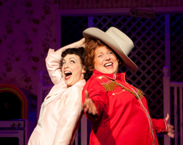 "Jenny Lee Stern, left, as Patsy Cline and Robin Baxter as Louise Seger in ""Always .... Patsy Cline,"" now playing at Infinity Theatre in Annapolis."