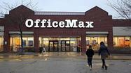 OfficeMax executives are seeking economic incentives to maintain their Illinois corporate headquarters once the Naperville-based office supply retailer completes its merger with rival Office Depot.