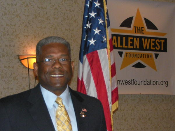 Former U.S. Rep. Allen West at an event sponsored by the Allen West Foundation.