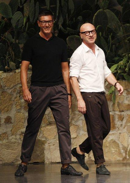 Fashion designers Stefano Gabbana, left, and Domenico Dolce.