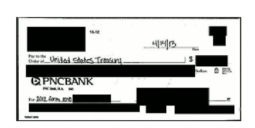 A scan of a check was among the items that security consultants discovered had been saved to the browser. This saved content can be easily viewed by a potential hacker.