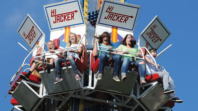Riders enjoy the Hi Jacker at the Clark County Fair Tuesday