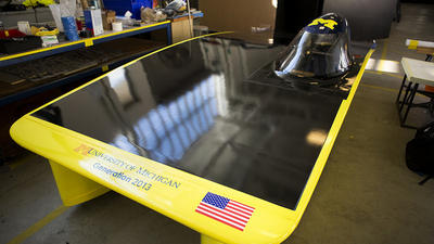 Students prep oddball car for World Solar Challenge
