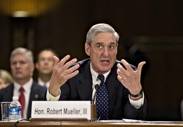FBI Director Robert Mueller testifies on Capitol Hill in Washington on Wednesday before the Senate Judiciary Committee hearing on national security matters.