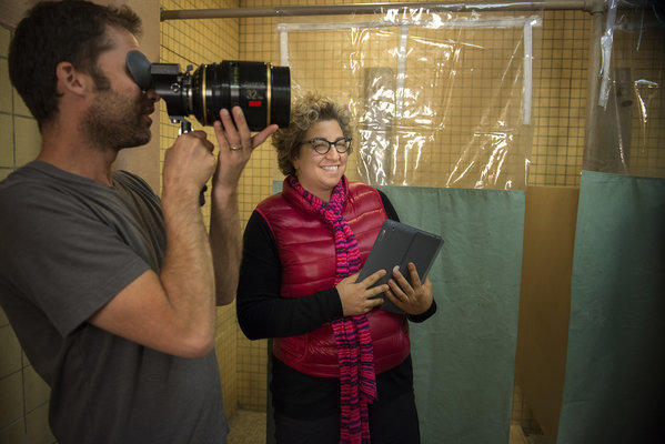 "Jenji Kohan on the set of the new Netflix series ""Orange Is the New Black."""