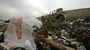 Headline: Plastic-bag ban approved by L.A. City Council