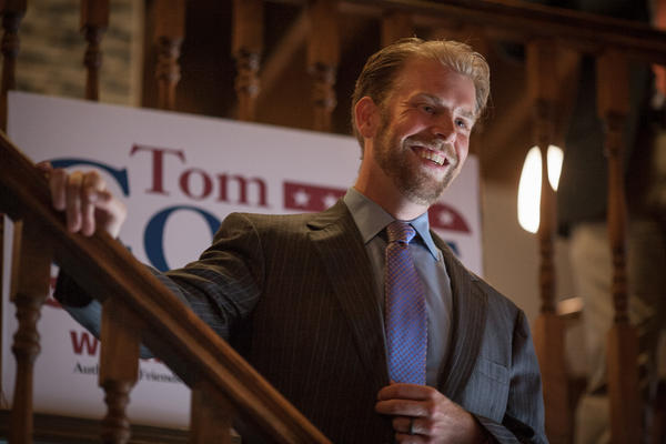 ho Ellicott City, MD Photo date: 06-18-2013 Photo by Nate Pesce Tom Coale speaks to the crowd as he announced plans to run for a seat in the House of Delegates during an event held at The Rumor Mill in Ellicott City.