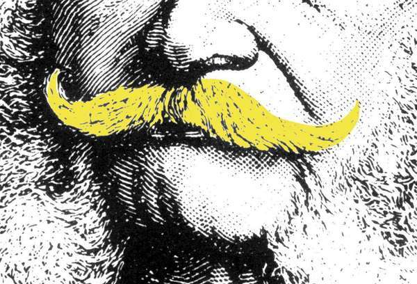 modern handlebar mustache
