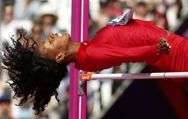 Brigetta Barrett won a sliver medal in the high jump at the London Olympics. She's aiming for the national record at the U.S. track and field championships this weekend.
