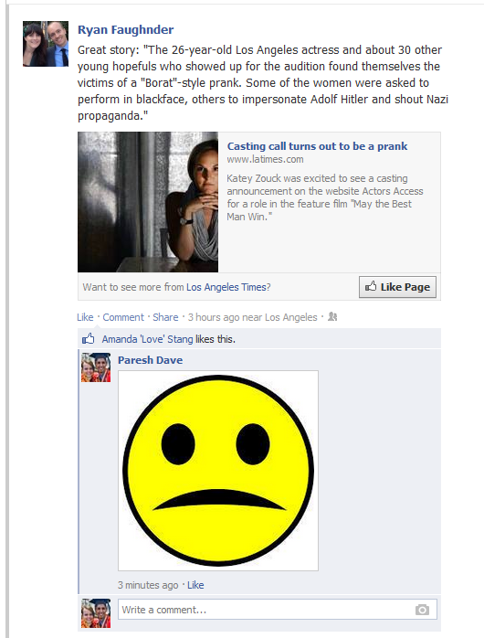 A screenshot from Facebook shows the new photo-commenting feature in action.