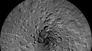 The moon's north pole