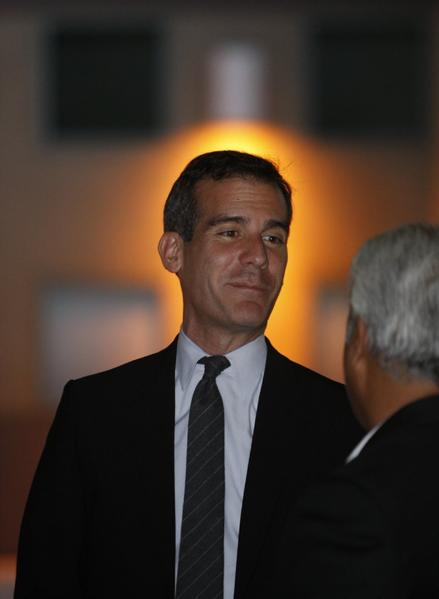 Mayor-elect Eric Garcetti says he opposes a proposed weakening of California's open records laws.
