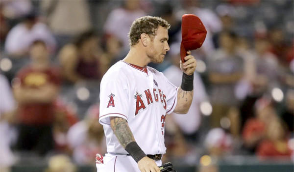 Josh Hamilton was moved from the No. 2 position the Angels' batting order to the No. 7 spot after another poor performance at the plate against the Mariners on Tuesday.