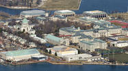 Three male midshipmen at the Naval Academy have been charged with raping a female midshipman and giving false official statements, the academy said Wednesday.