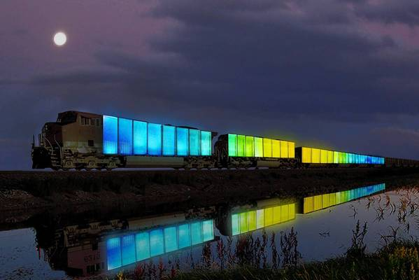 "A rendering of the ""Station to Station"" train by Doug Aitken."