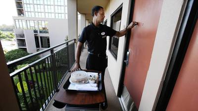 Room service still has fans among business, leisure travelers