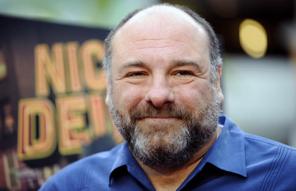 "James Gandolfini at the L.A. premiere of Nickelodeon's ""Nicky Deuce."""