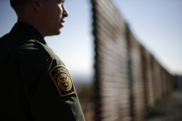 Border Patrol agent Jerry Conlin near the end of the border wall between Tijuana and San Diego. A proposal to be unveiled by senators Thursday would add more border agents, drones and fencing along the U.S.-Mexico border.