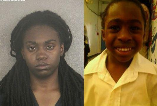 Destene Simmons 9left) calls 911 for son Antwan Hope, 4.