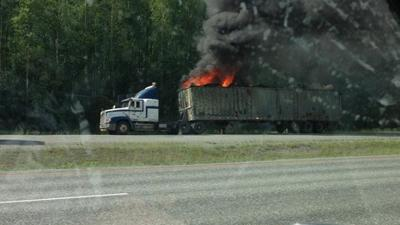 Glenn Highway Reopens after Tractor-Trailer Fire