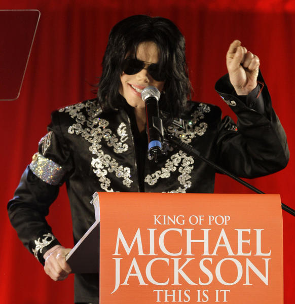 Michael Jackson announces comeback tour in 2009 in London.