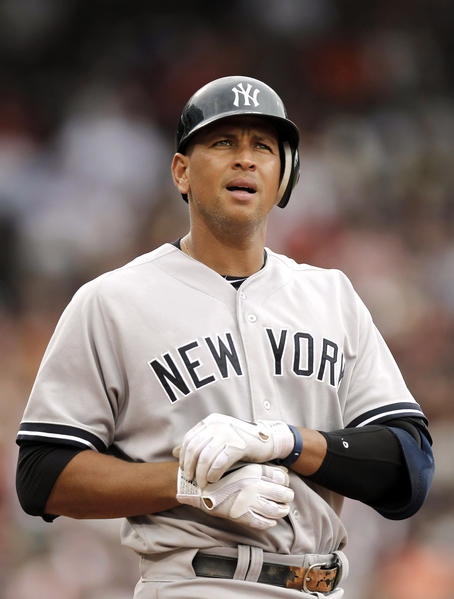 Alex Rodriguez during a 2012 game.