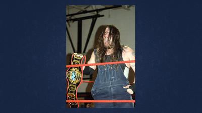 "Phoenix Pro Wrestling Legacy Champion ""The Red River Rebel"" James Ford with his title belt."