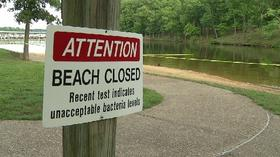 Pictures:  Grand Glaize Beach at Lake of the Ozarks closed due to high levels of bacteria