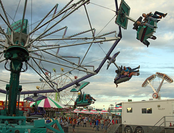 Fairgoers enjoy the rides at the Brown County Fair.