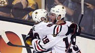 BOSTON — Struggling through a Stanley Cup Final scoring slump, Blackhawks captain Jonathan Toews credited teammate Brent Seabrook for lending an ear to help him through the doldrums.