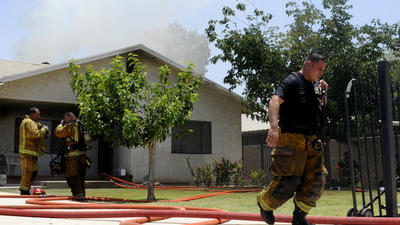 3-alarm fire hits Calexico home