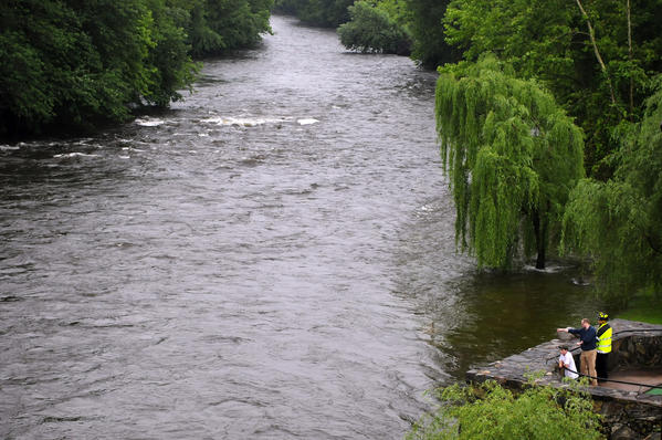 Officials searched the Farmington River for a missing man Tuesday.