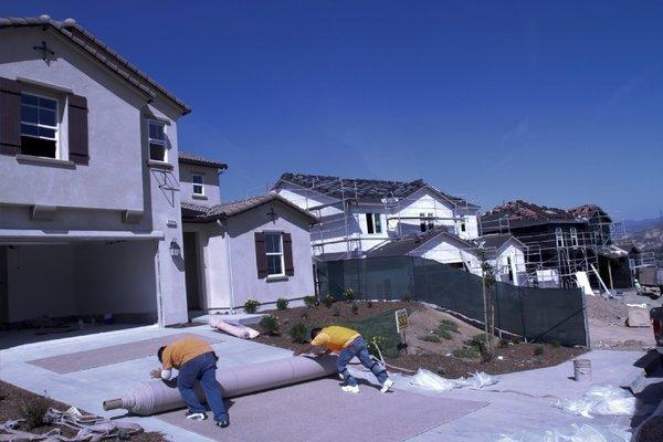 A house under construction in Santa Clarita.